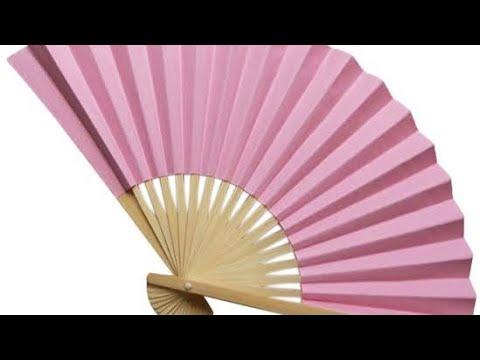 Paper fan/waste ice cream stick paper fan