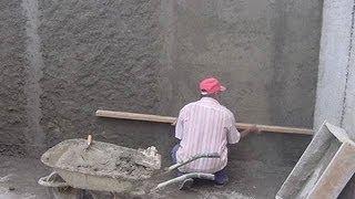 Штукатурка стен дома от начала и до конца.(Перед оштукатуриванием стены необходимо подготовить - очистить от грязи или старой штукатурки и покрыть..., 2013-05-06T08:43:54.000Z)