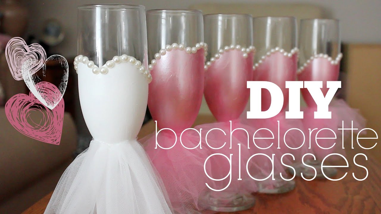 Diy Bachelorette Glasses Youtube