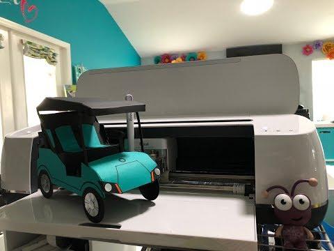 3d Paper Golf Cart