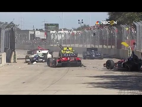 Indycar Crashes 2013