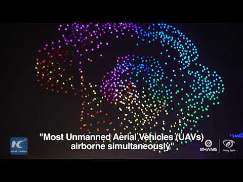 China bate o récord de drons sobrevoando o seu ceo