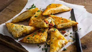 Jus Create - Chicken, Manchego & Chorizo Filo Briouats - Pastry Recipes from Jus-Rol