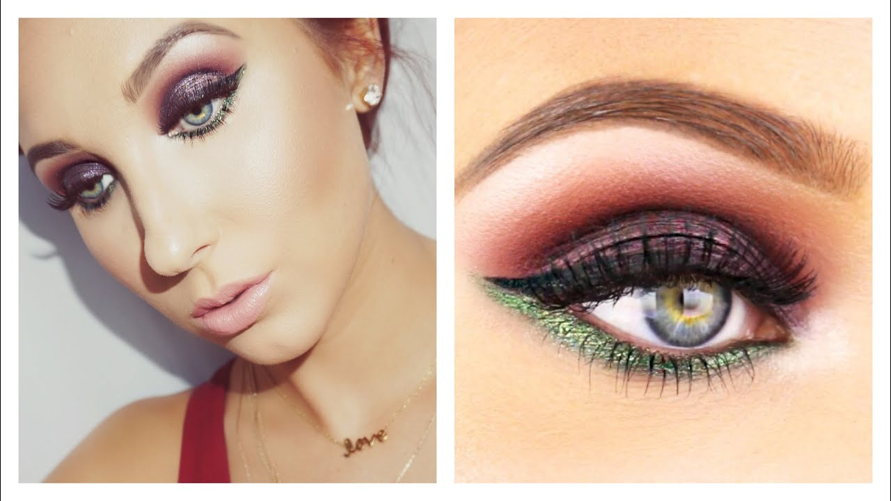 Fall Smokey Eye With A Pop Of Color Drugstore Products