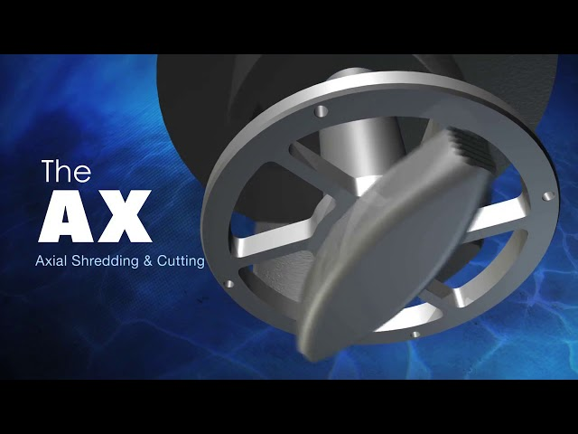 BJM Pumps Patented RAD AX® Dual Shredding Technology   SKG Series Shredder Submersible Pumps