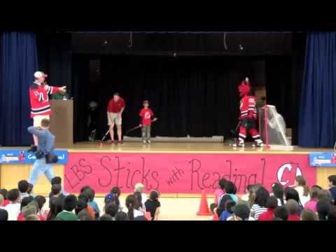NJ Devils at Lawrence Brook Elementary School in East Brunswick