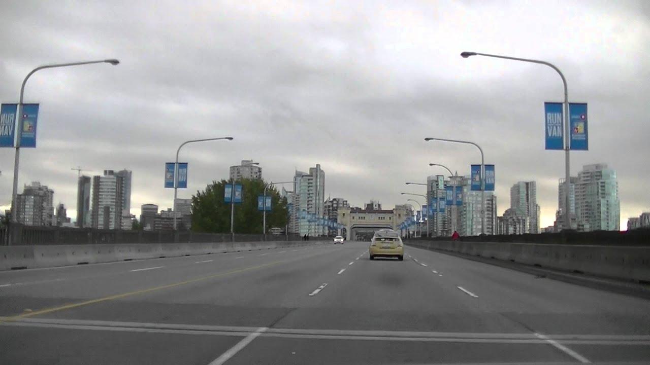 Road Conditions Vancouver: BURRARD Street BRIDGE In Vancouver BC CANADA