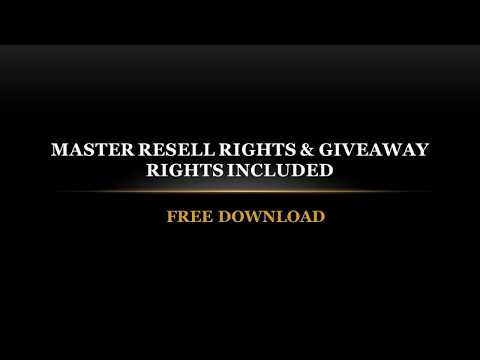 Free Download Self Help EBooks with Master Resell Rights & Giveaway
