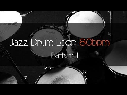 JAZZ Drum Loop Practice Tool 80bpm Pattern 1