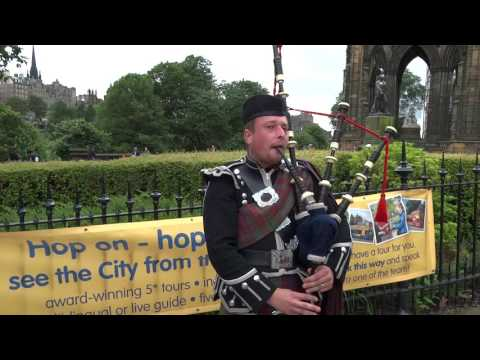 Bagpipes Princes Street Gardens Edinburgh Scotland