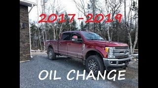 2017-2019 FORD SUPERDUTY 6.7 OIL CHANGE