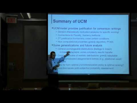 """Computational Social Choice: A Decision-theoretic Perspective"" (CRCS Lunch Seminar)"