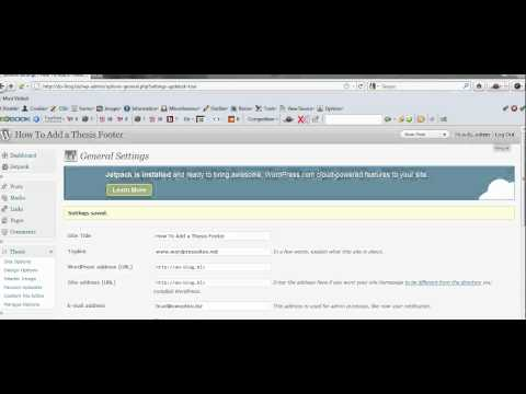 Thesis Footer Tutorial - How To Add a Footer in Thesis