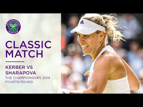 Angelique Kerber vs Maria Sharapova   Wimbledon 2014 fourth round   Full Match Replay