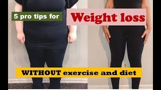 How to Lose Weight WITHOUT Exercise and Diet in Urdu/Hindi