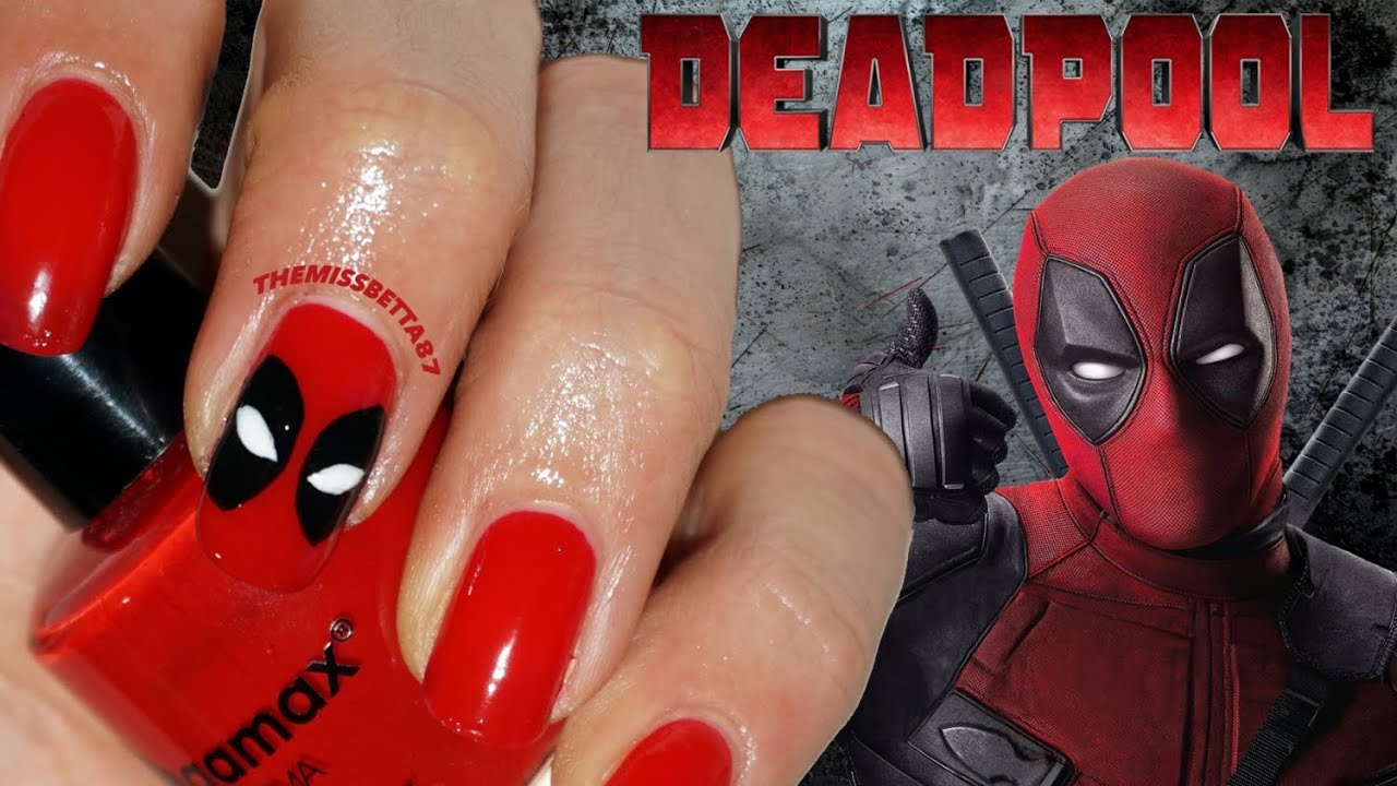 - DEADPOOL Nail Art - YouTube