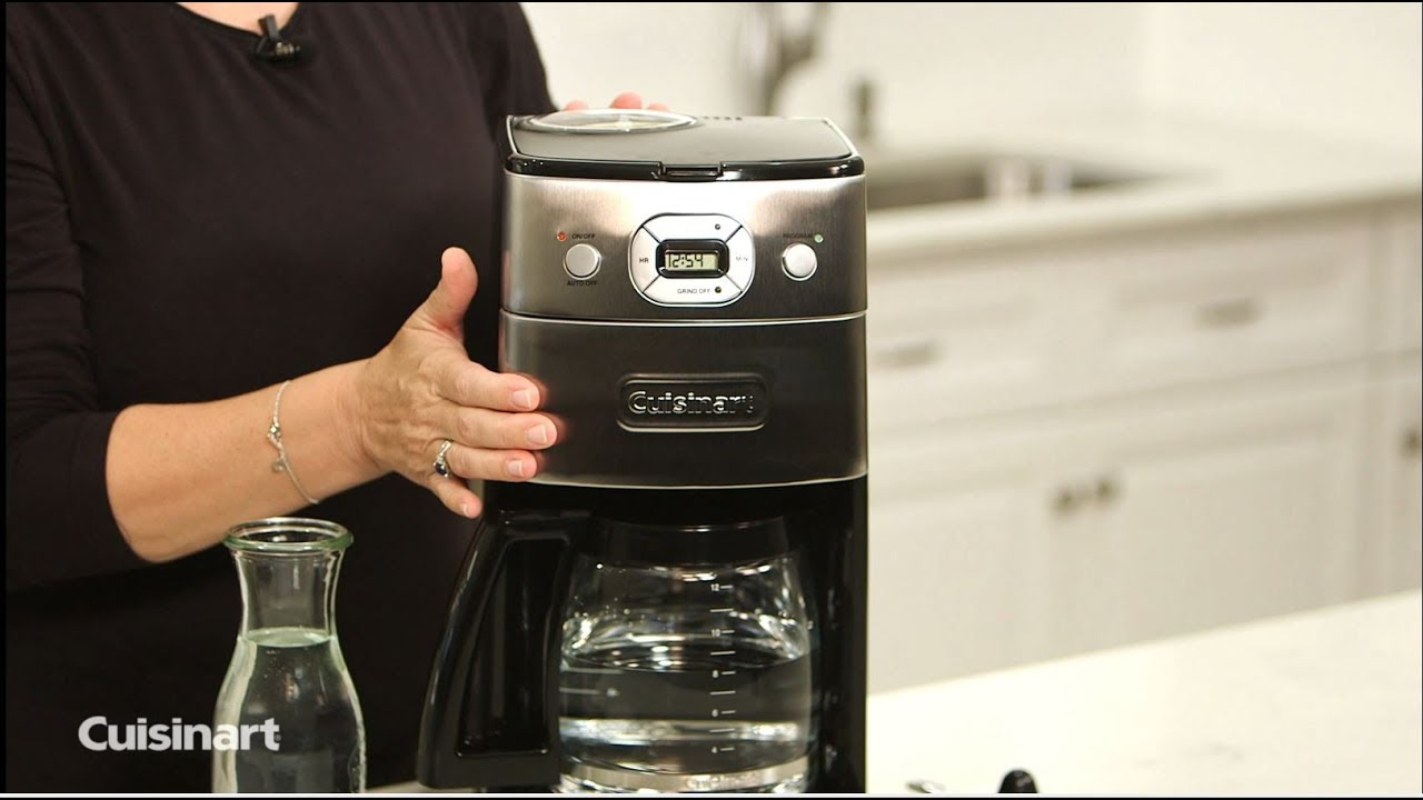 Cuisinart How To Clean Your Grind And Brew Coffeemaker Dgb 625bc Youtube