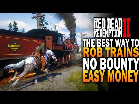 How To Rob Trains & NO BOUNTY! The PERFECT Robbery - Red Dead Redemption 2 Easy Money [RDR2]