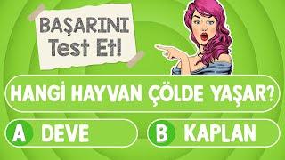BİLGİ YARIŞMASI #10 : Genel Kültürün Ne Kadar İyi Test Et | Çocuklar için bilgi yarışması