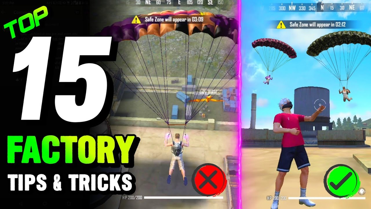 TOP 15 FACTORY TIPS AND TRICKS IN FREE FIRE | KING OF FACTORY | BROKEN JOYSTICK