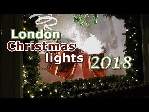 Top London 2018 Christmas lights & store windows