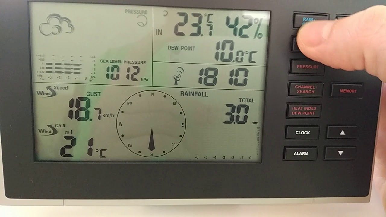 Lidl Auriol Premium Weatherstation Error Youtube