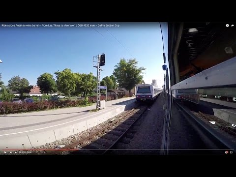 Ride across Austria's wine barrel – From Laa/Thaya to Vienna on a ÖBB 4020 train – GoPro Suction Cup