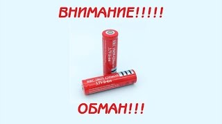 видео Литий-ионный аккумулятор 18650 UltraFire (6800mAh, 3.7V)