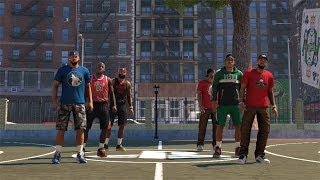 Nba 2k14 ps4 the park - did he just hit that amazing shot? #dead