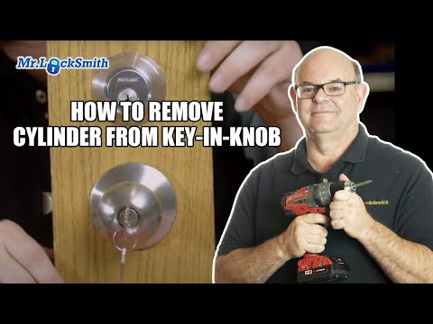 How to Remove Cylinder from Key-in-Knob | Mr. Locksmith™ Video