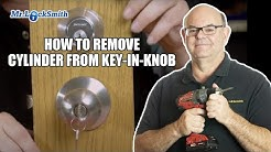 How to Remove Cylinder from Key-in-Knob   Mr. Locksmith™ Video