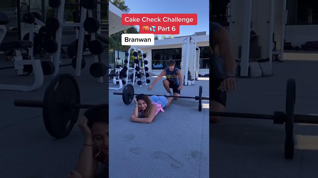 CAKE CHECK CHALLENGE! 🍑💦 #shorts