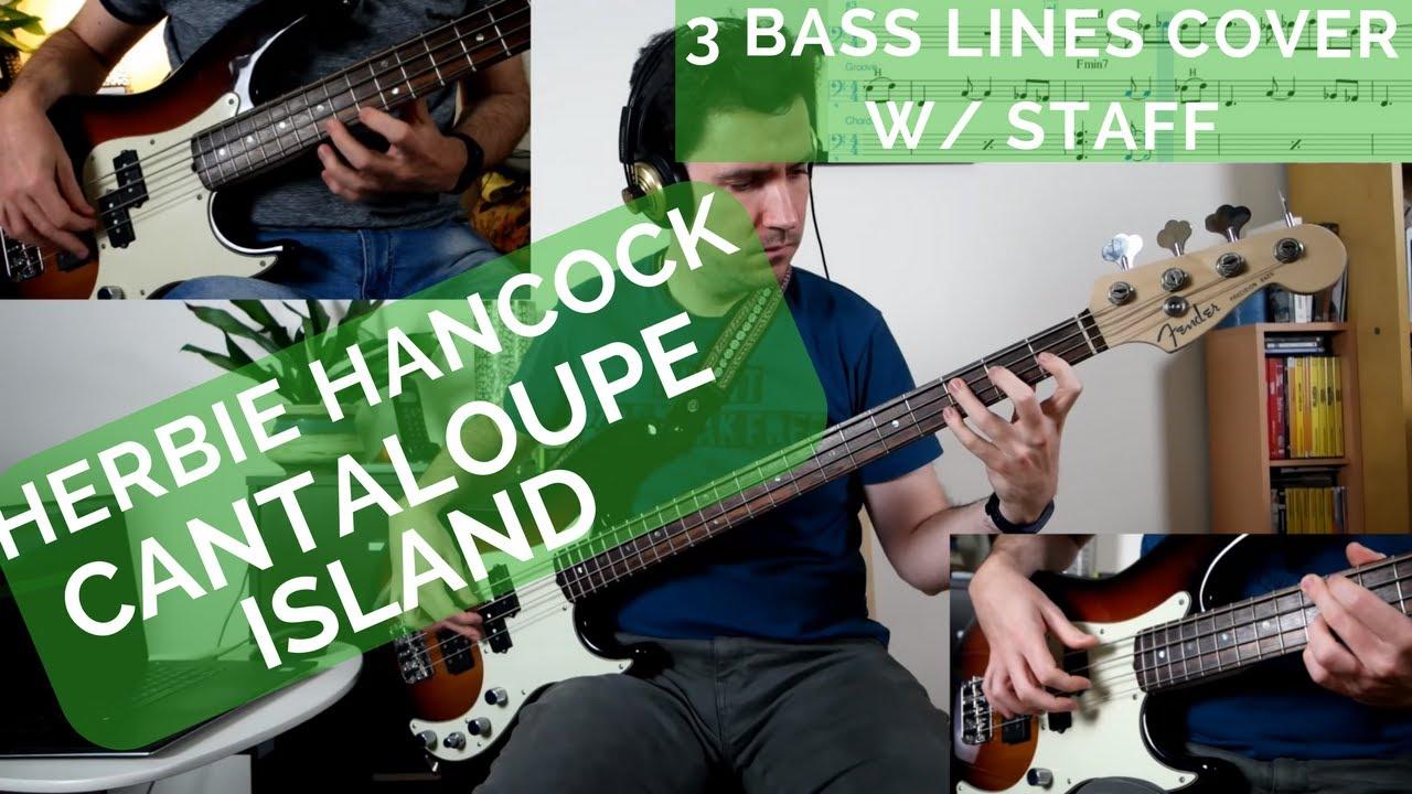 Herbie Hancock Cantaloupe Island 3 Bass Lines W Staff