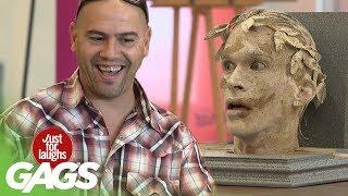 Caesar Statue Comes to Life Prank