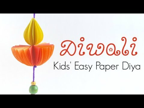 Paper Diya Ornament - Kids Diwali Ideas & DIY