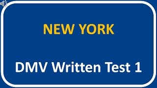 New York DMV Written Test 1