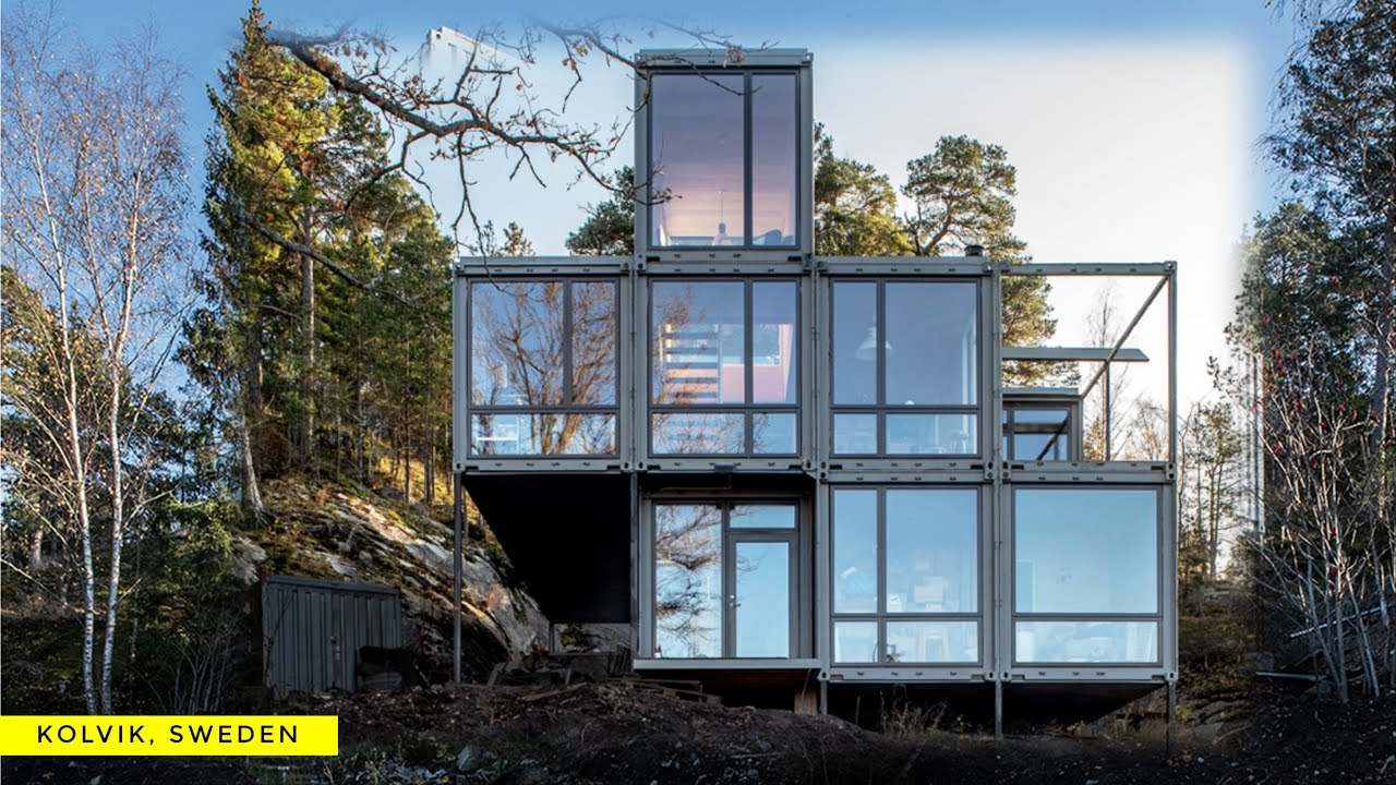 Containervillan Shipping Container Villa In Kolvik Sweden Youtube