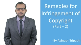 Lecture on Remedies for Infringement of Copyright (Part 2)