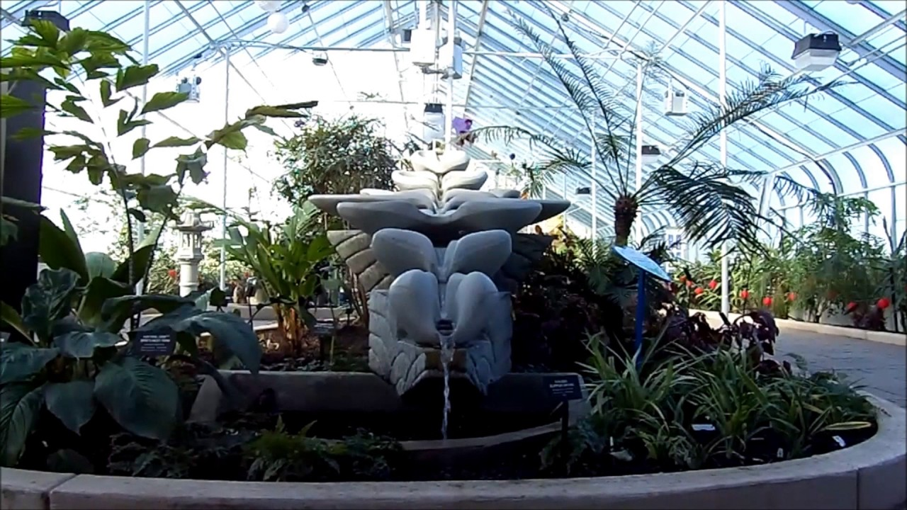 Botanical Gardens Lackawanna, NY! Flowform Water Feature! Feb. 2017!  Buffalo U0026 Erie County!