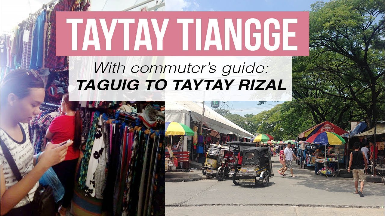 Commute From Taguig To Taytay Tiangge Vlog Geriza