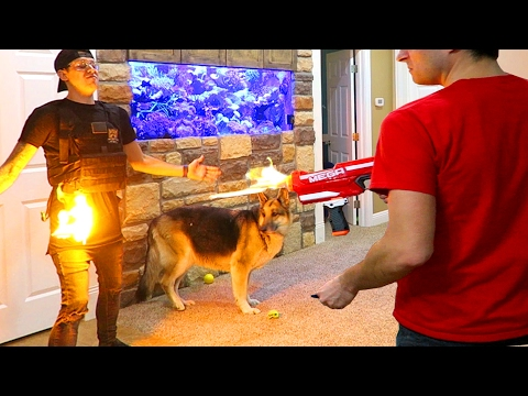 Thumbnail: INSANE FLAMING NERF FIRE!!