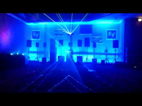 Volumetric 3 dimensional Laser projector hip hop.MTS