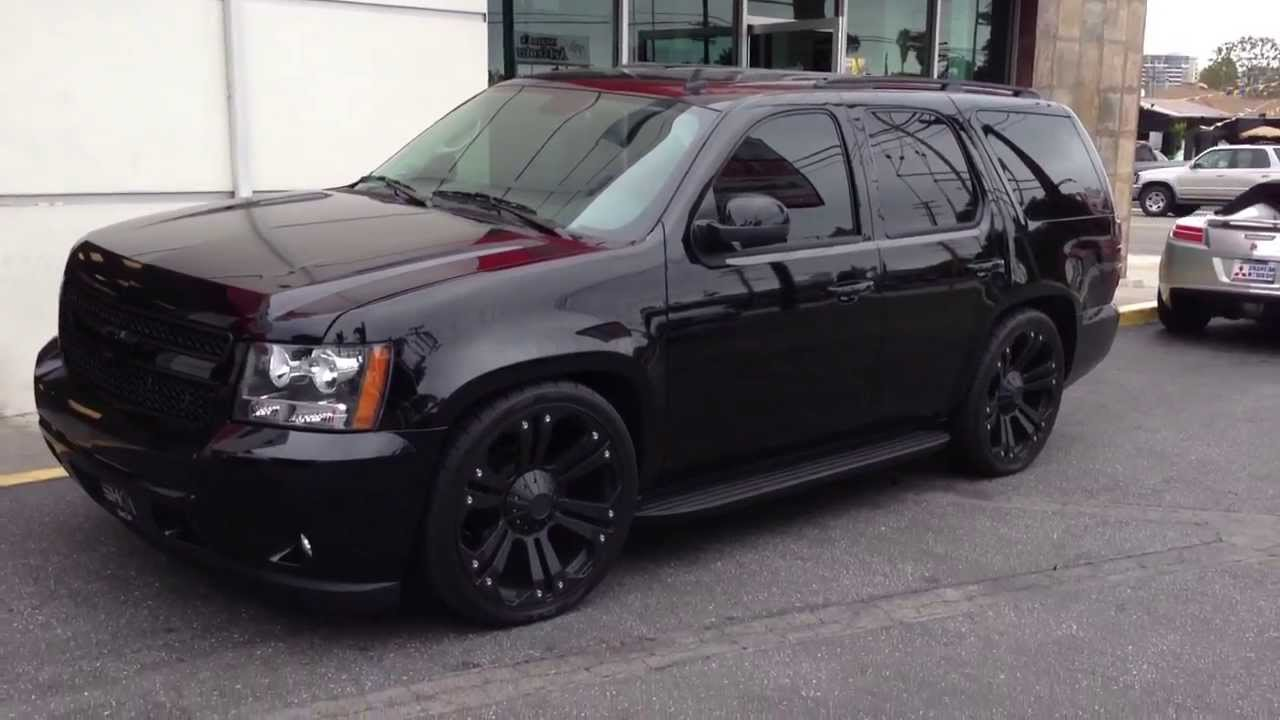 2013 Blacked out Tahoe by THE SHOP Culver City, CA - YouTube