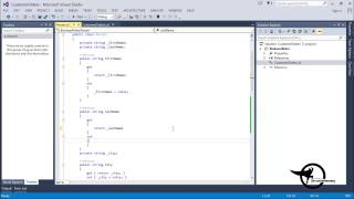 Add Methods & Constructors in a C# .Net Class Diagram VS 2013 - Video