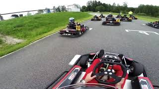 Karting racing from 10th place to first place