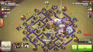 Clash of Clans TH7 Dragon Funneling for Three Star War Attack 2016