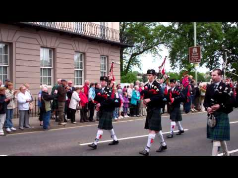 1,000 Pipers Pipe Band Parade The Kilt Run Perth Scotland Saturday June 2nd 2012