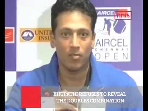 Bhupathi Refuses To Reveal The Doubles Combination