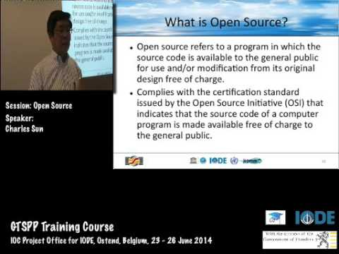 GTSPP Training Course 2014- Open Source Software, by Charles