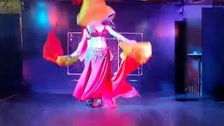 Russian dancer veil performance